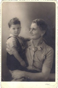 Aug 1944 Tswi with his foster mother, Margje de Jongh